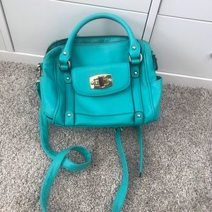 Handbags - Small hot teal crossbody barrel bag